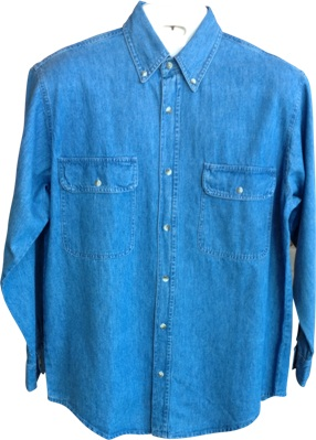 Heavy Weight Long Sleeve Denim Shirt - Code 77800